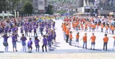 predskolci ples na trgu