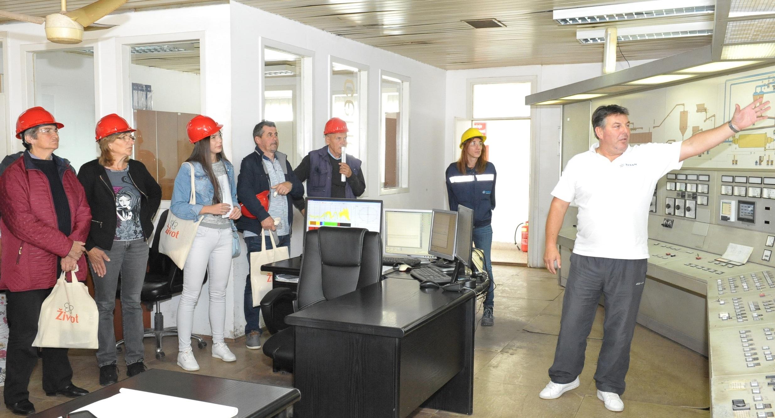 Poseta komandnom centru u okviru obilaska fabrike TITAN Cementara Kosjeric